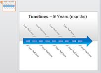 ppt时间箭头图表
