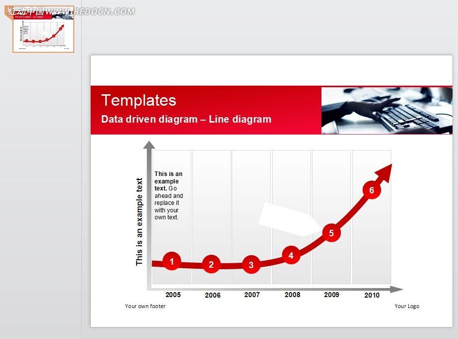 免费素材 ppt模板 ppt模板/ppt图表 表格图标 红色圆形箭头指标幻灯片图片
