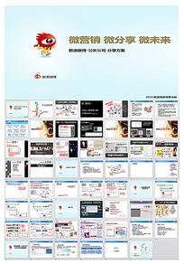 新浪微博营销-公关公司分享案例ppt模板