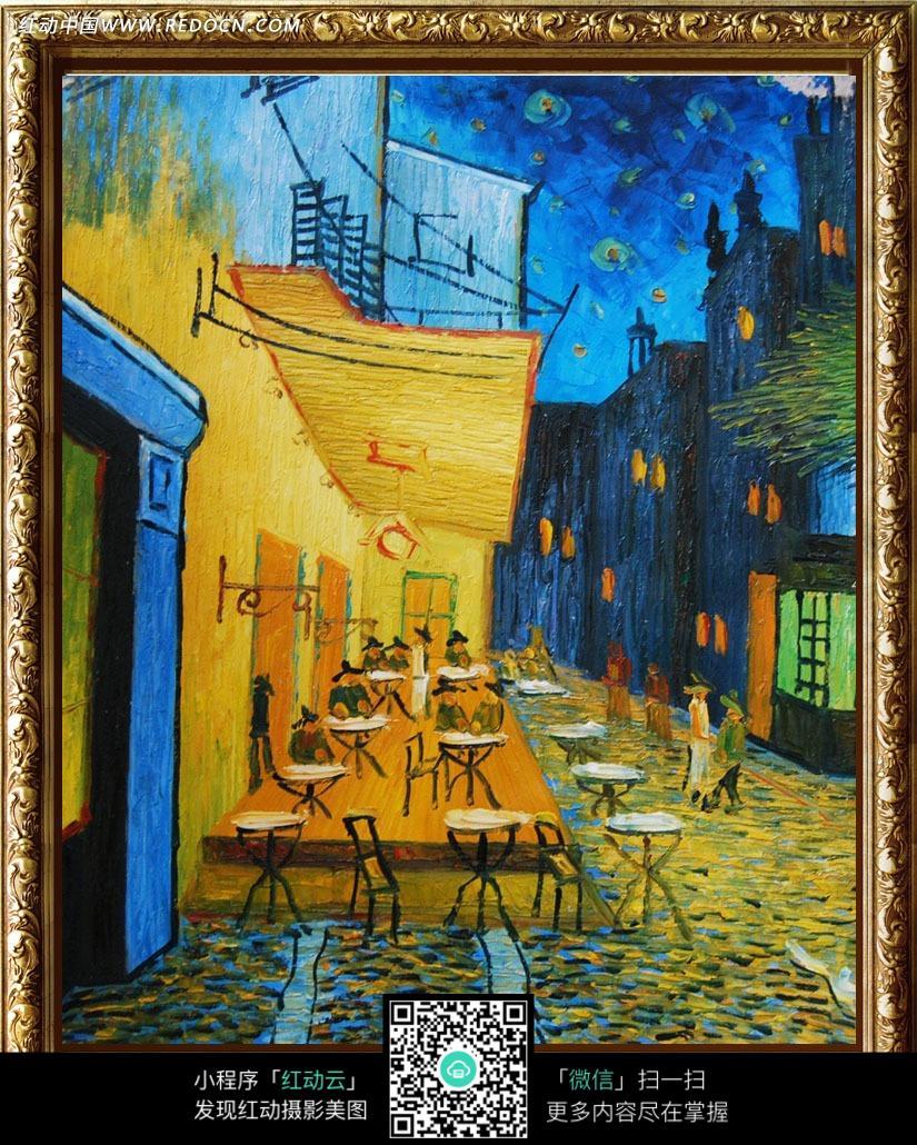 城市夜生活油画装饰画