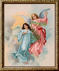 欧洲带翅膀美女装饰画