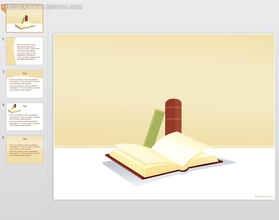 书本学习背景ppt素材免费下载_红动网图片