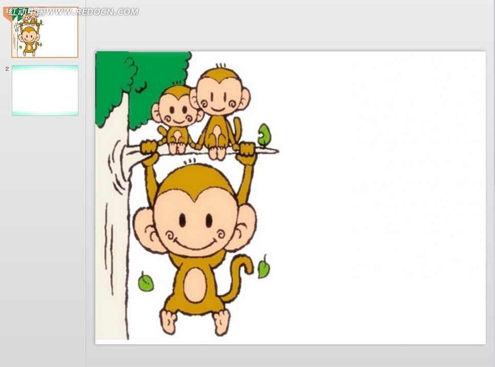 豆子粘贴画图猴子片-小猴画画卡通图片
