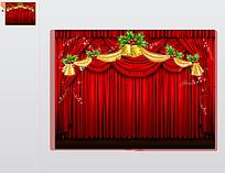 圣诞节幕布背景PPT模板