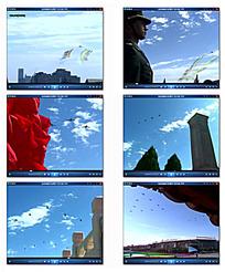 蓝天白云天安门广场视频