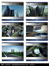高楼大厦背景视频