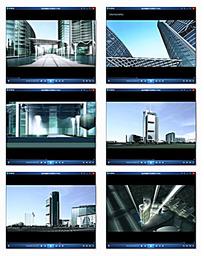 商业大楼背景视频