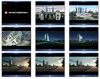 3D城市高楼建筑视频