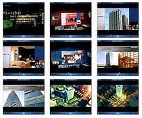 城市高楼夜景效果视频