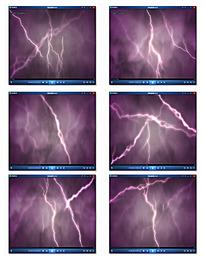 紫色闪电光晕背景视频
