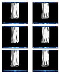 白色窗帘背景视频