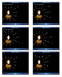 夜晚蜡烛燃烧视频