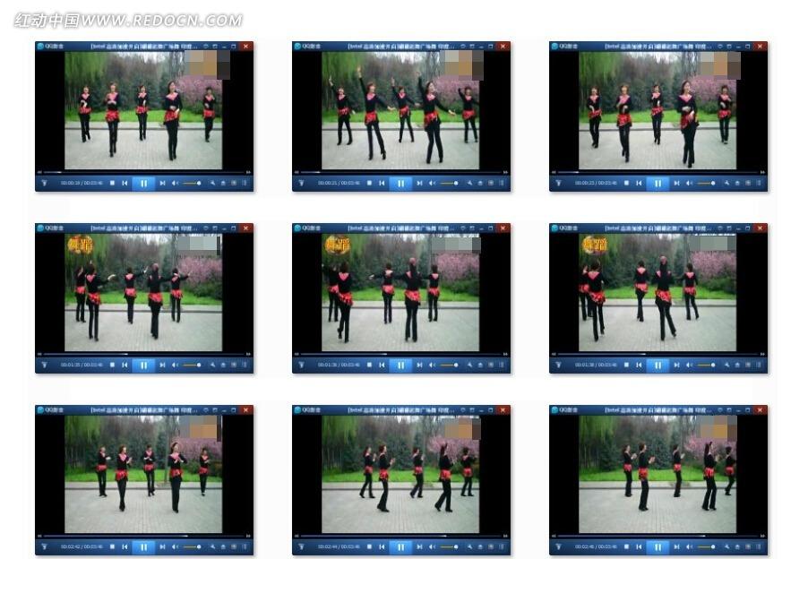 翩翩起舞广场舞印度美女视频素材 人物形色