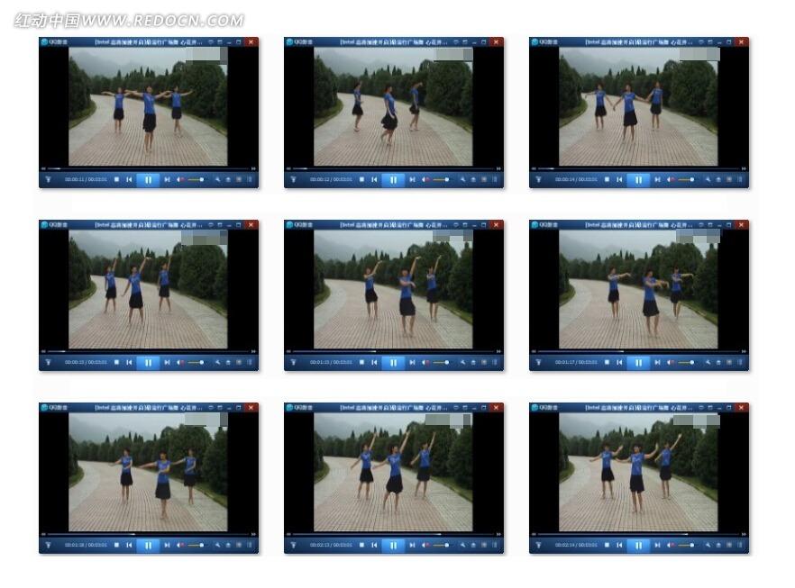 广场舞心花开在草原上视频素材 人物形色