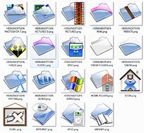 蓝色网站网页文件夹图标设计模板下载