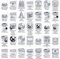 银色网站网页文件夹图标设计