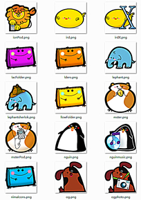 可爱卡通网页图标