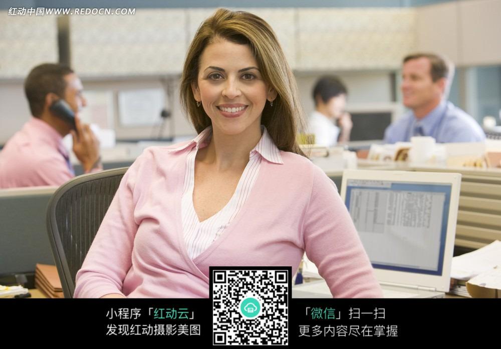 商务工作的美女跨国公司白领图片