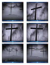墓地十字架视频
