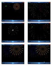 夜空粒子喷发视频