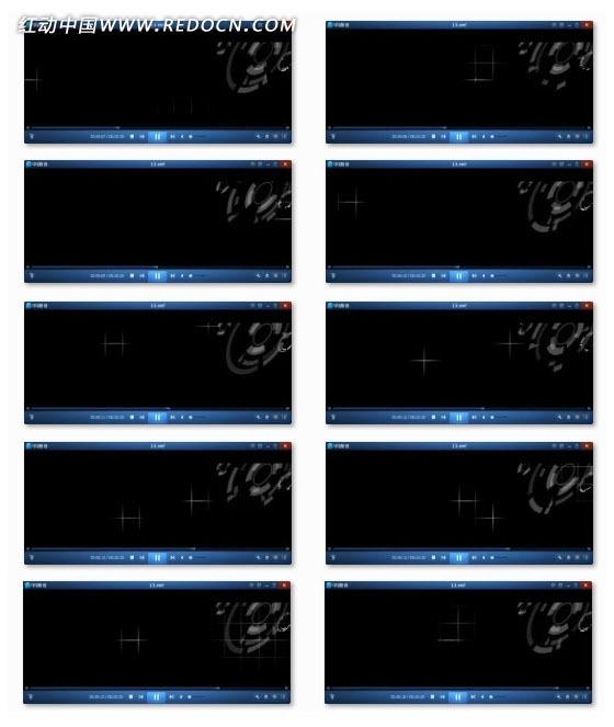 旋转光效花纹背景视频图片