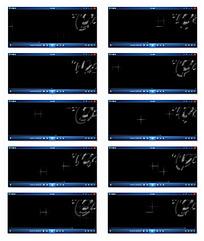 旋转光效花纹背景视频