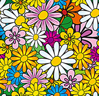 立体小花背景连续图案