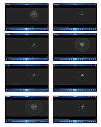 天空放射粒子背景视频
