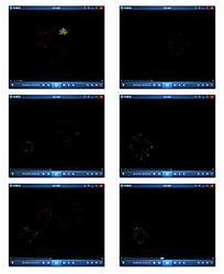 彩色动态粒子背景视频