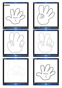手绘线条手势动画视频