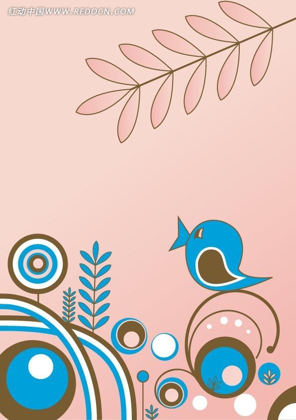 小鸟的几何图形 几何图形拼成的图案 用图形拼成的小鸟图片