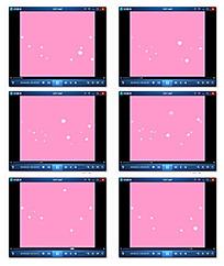 卡通粒子星光视频