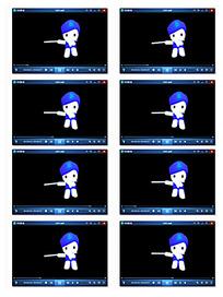 卡通吹笛子娃娃视频