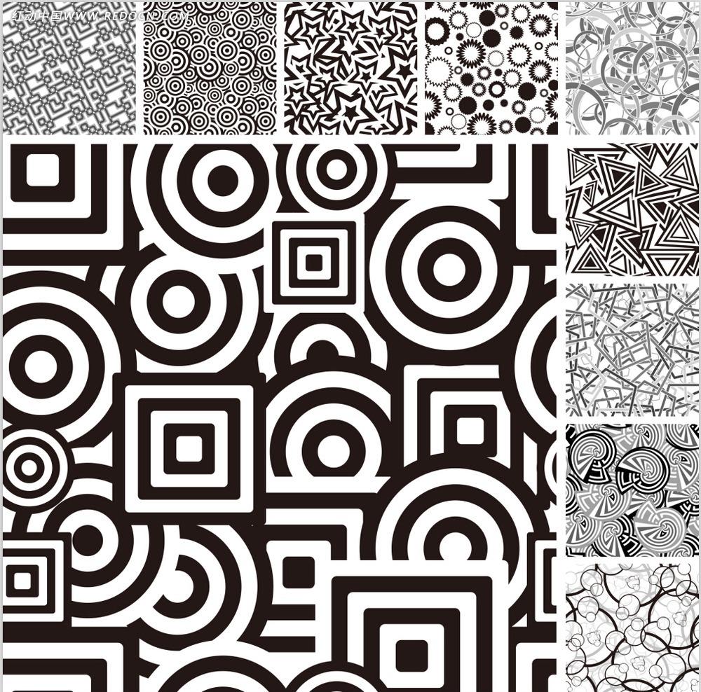 黑白几何型背景图案