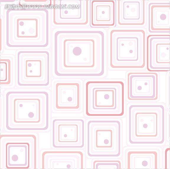 免费素材 矢量素材 花纹边框 底纹背景 几何方块背景连续图案
