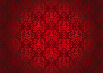红色花朵底纹平铺背景
