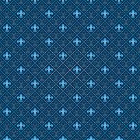 蓝色系花朵底纹平铺背景