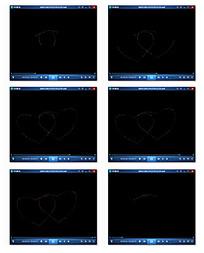 光点组成双心形动画背景视频