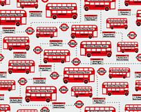 公交车连续图案背景