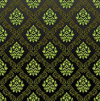 绿色系藤蔓花朵底纹平铺