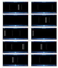 黑色背景竖向横行光条动画视频