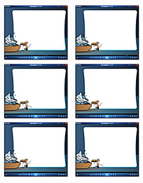 卡通猫咪老鼠动感相册