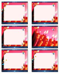 生日电子相册 模板