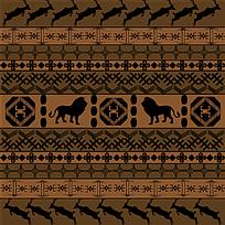 几何动物边框
