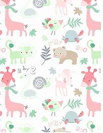 时尚小动物可爱漂亮背景素材