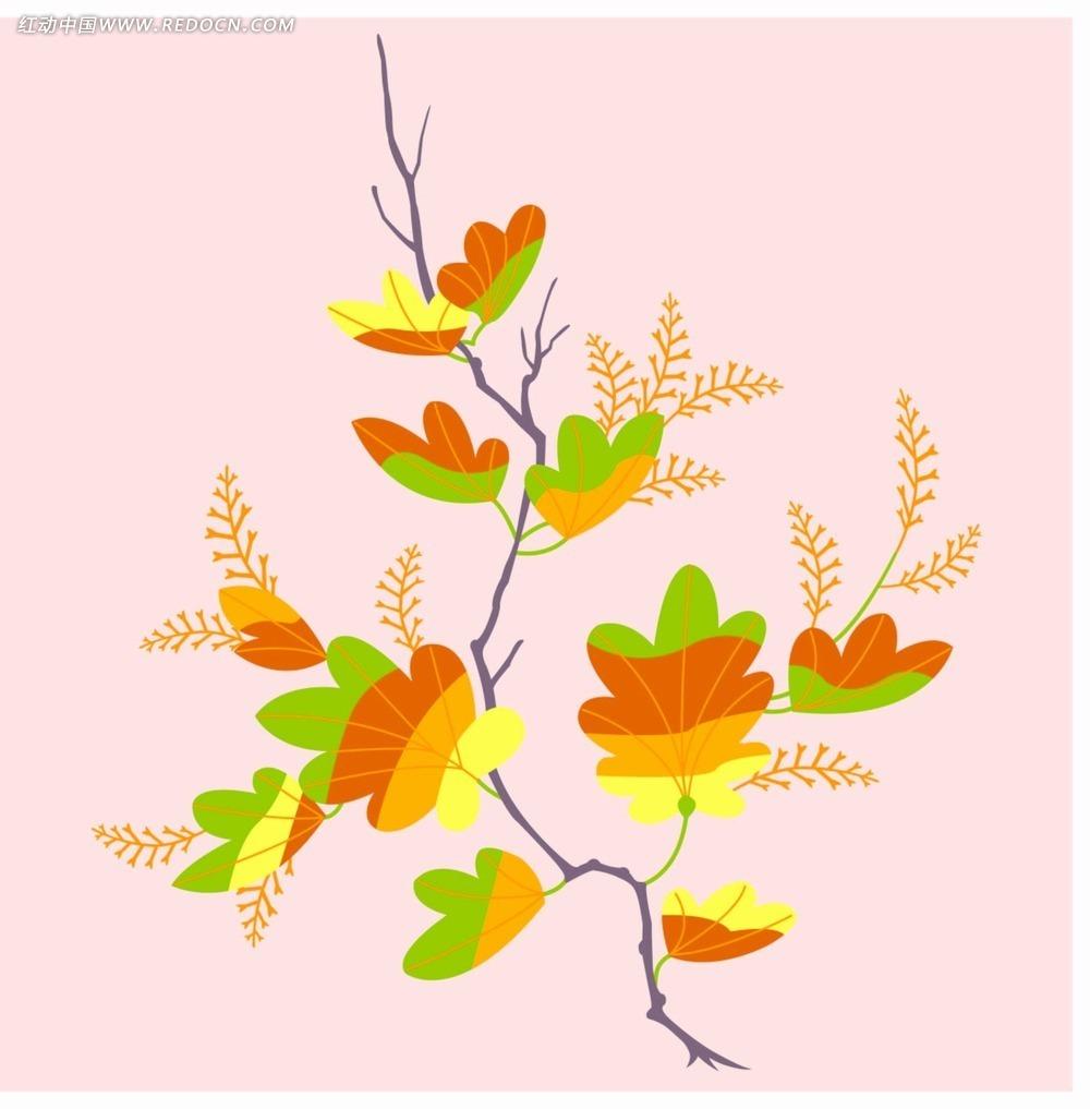 矢量银杏叶花纹背景