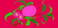 仙桃矢量花纹底纹素材