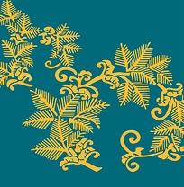 传统松树花纹底纹素材