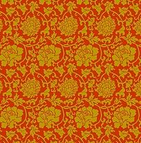 矢量传统牡丹花纹素材