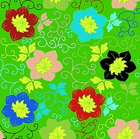 矢量牡丹花传统花纹素材